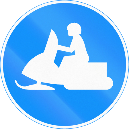 one lane roadsign: Road sign 426 in Finland - Snowmobile path