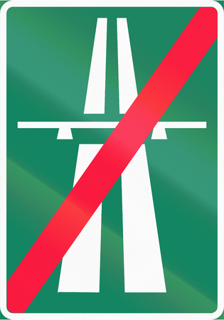 made in finland: Road sign 562 in Finland - End of Motorway