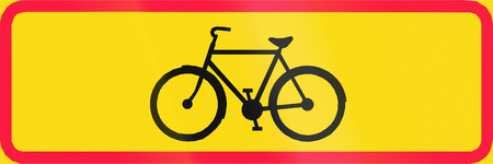 additional: Additional traffic sign in Finland - Cyclists