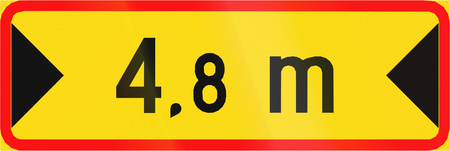 width: Additional traffic sign in Finland - Free Width