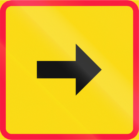 red handed: Additional traffic sign in Finland - Sign applies in the direction of the arrow