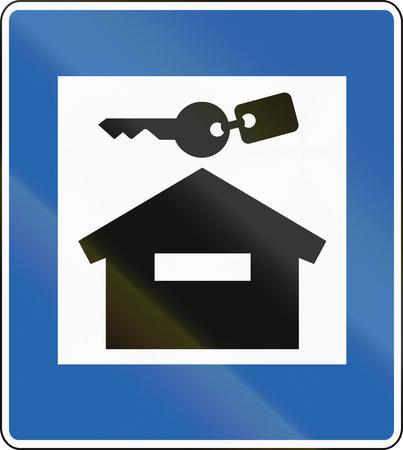 accomodation: An Icelandic road sign - Cottage accomodation