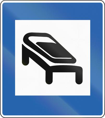 Icelandic traffic sign - Sleeping bag accomodation