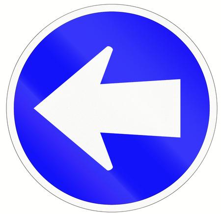 turn left: Un segnale stradale indonesiana - Girare a sinistra