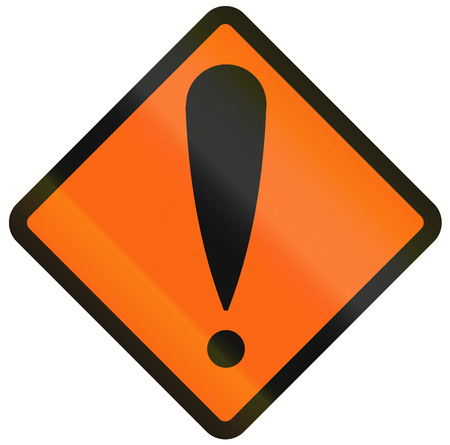 orthographic symbol: Indonesian temporary road warning sign - General danger