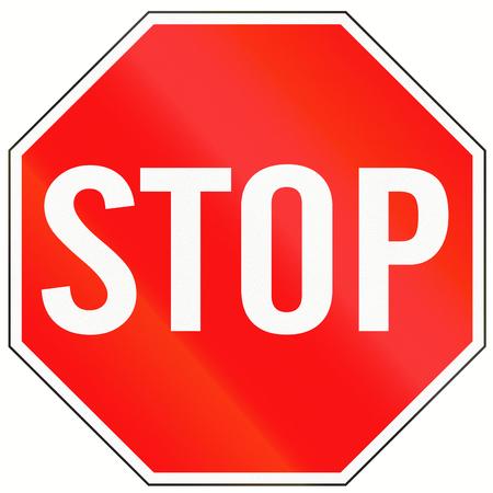 Ein Standard-Stop-Schild in Indonesien. Standard-Bild - 41180736