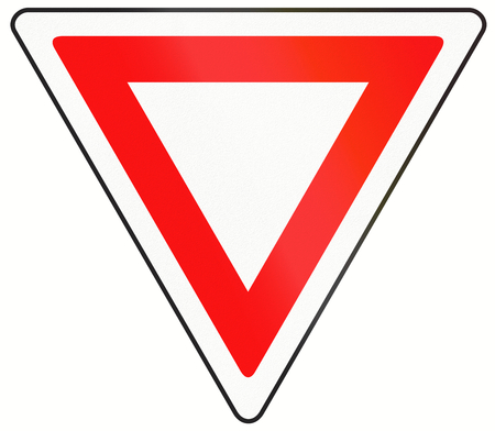 A common Canadian traffic sign - Yield