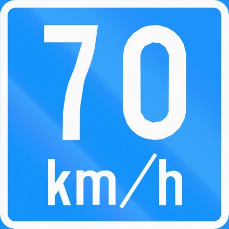 advisory: Road sign 653 In Finland - Advisory speed Stock Photo