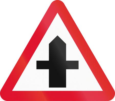 right handed: Hong Kong danger warning sign: T-intersection