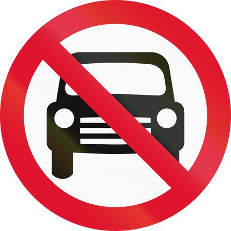 thoroughfare: Hong Kong sign prohibiting thoroughfare for all motor vehicles.