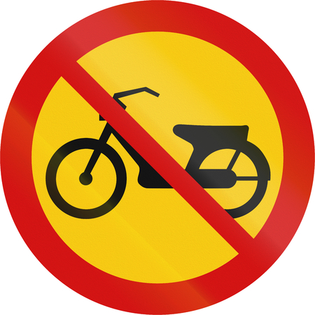 mopeds: Road sign in Iceland - No mopeds