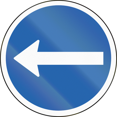 turn left: Icelandic traffic sign: Turn left