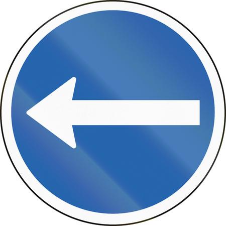 turn left: Traffico islandese segno: Girare a sinistra