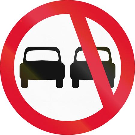 overtaking: An official Hong Kong traffic sign: No overtaking!