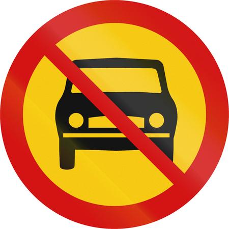 thoroughfare: Icelandic sign prohibiting thoroughfare for all motor vehicles.