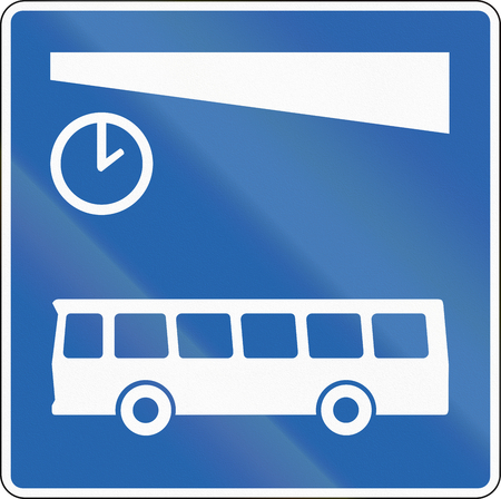 bus station: A Icelandic road sign - Bus station