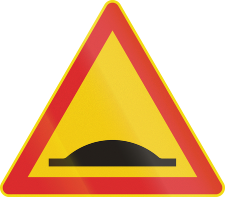 bump: Road sign 141a in Finland - Speed bump