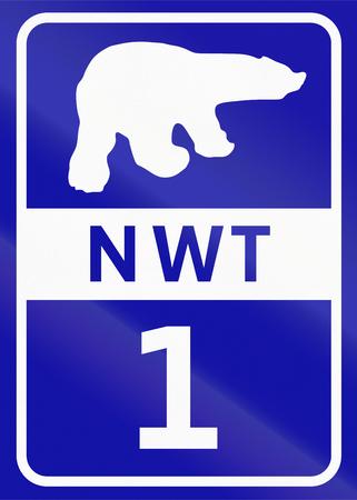 northwest: Shield of Northwest Territory highway number 1.