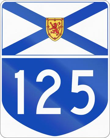nova scotia: Route marker for Nova Scotia highway number 125