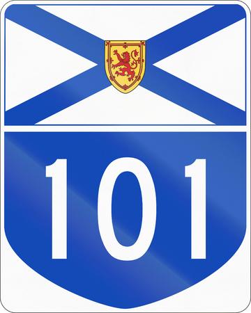 nova scotia: Route marker for Nova Scotia highway number 101. Stock Photo