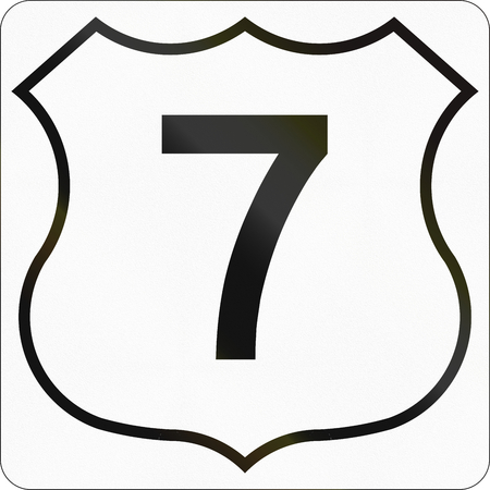 number 7: Route marker for Nova Scotia trunk highway number 7