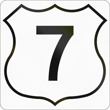 nova scotia: Route marker for Nova Scotia trunk highway number 7