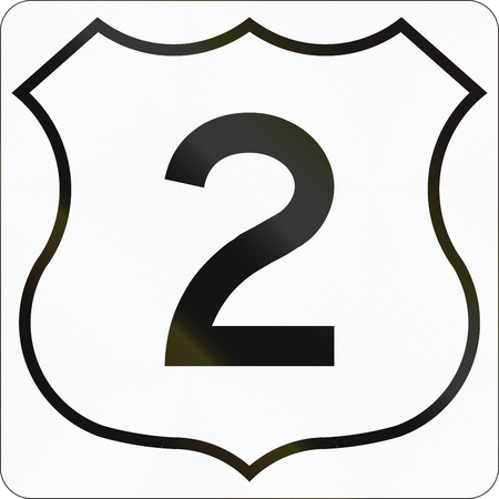scotia: Route marker for Nova Scotia trunk highway number 2.