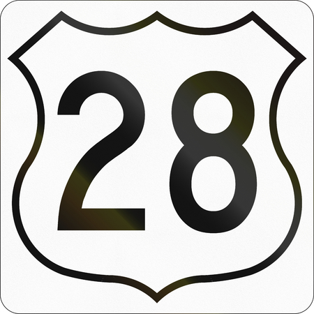 scotia: Route marker for Nova Scotia trunk highway number 28.