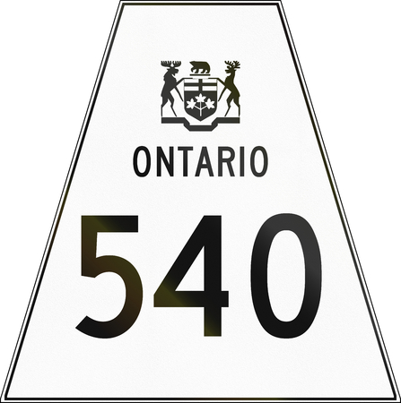 trapezoid: Canadian highway shield of Ontario highway number 540.