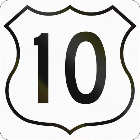 number 10: Route marker for Nova Scotia trunk highway number 10.