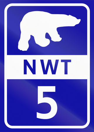 northwest: Shield of Northwest Territory highway number 5.