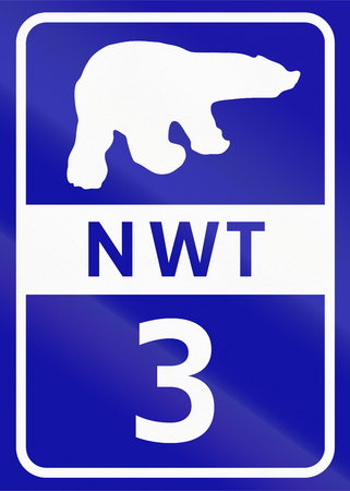 number 3: Shield of Northwest Territory highway number 3.