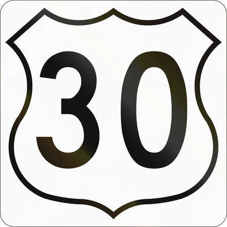 scotia: Route marker for Nova Scotia trunk highway number 30.