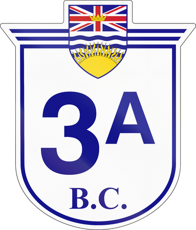 highway 3: Shield for the British Columbia Highway number 3A.