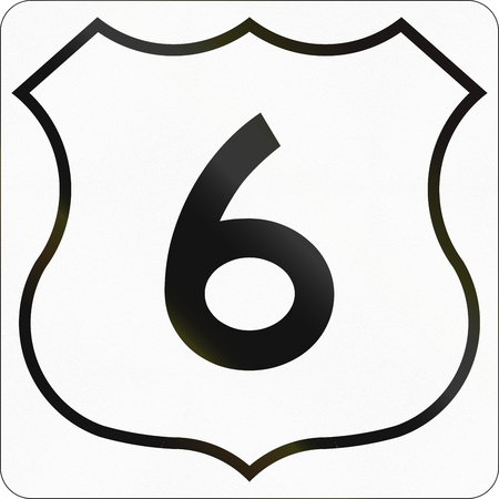 highway 6: Route marker for Nova Scotia trunk highway number 6.