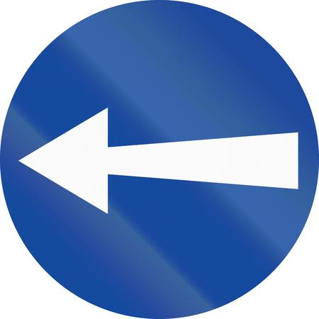 turn left: Traffico greco segno: Girare a sinistra