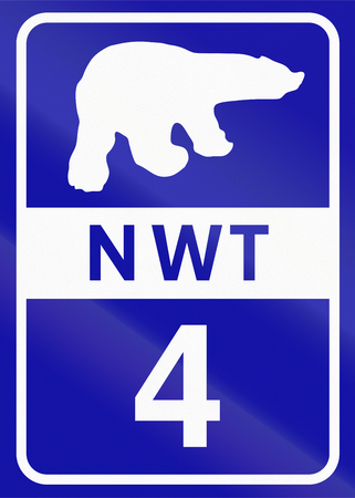 number 4: Shield of Northwest Territory highway number 4.