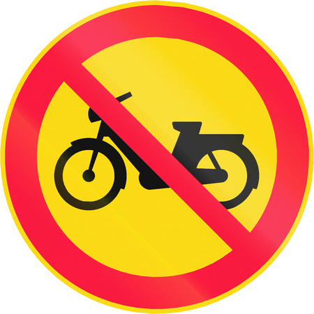 mopeds: Road sign 321 in Finland - No mopeds