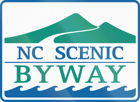 byway: Scenic byway shield in North Carolina, USA.