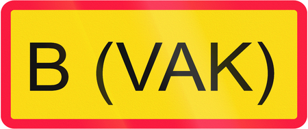 goods: Finnish road sign - No entry for vehicles carrying dangerous goods of group B
