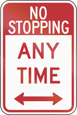 stopping: US traffic sign: No Stopping Any Time, Philadelphia Stock Photo