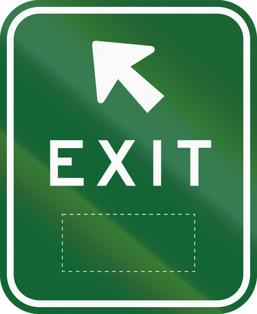 exit sign: An Australian exit sign on a highway, with copy space. Stock Photo