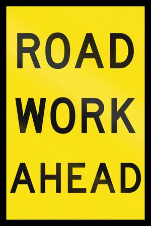 roadwork: An Australian temporary roadwork sign - Road work ahead