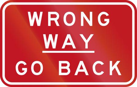 호주 교통 표지판 : 잘못 된 방법 - 돌아 가기