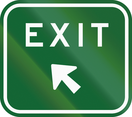 exit sign: An Australian exit sign on a highway.