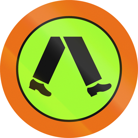 lurid: Australian traffic sign: Pedestrian crossing (with target board).
