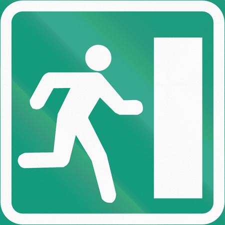 salida de emergencia: Signo de la carretera 690 en Finlandia - salida de emergencia