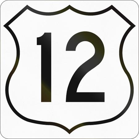 노바 스코샤 트렁크 고속도로 12 번 노선 마커.