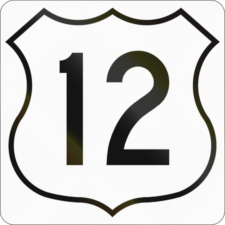Route marker for Nova Scotia trunk highway number 12.