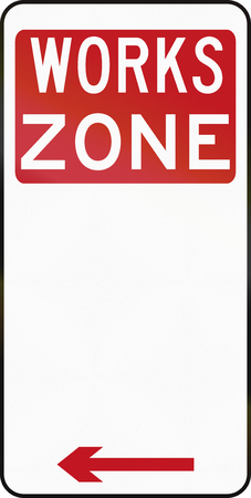 red handed: Australian special parking zone regulation sign: Works Zone